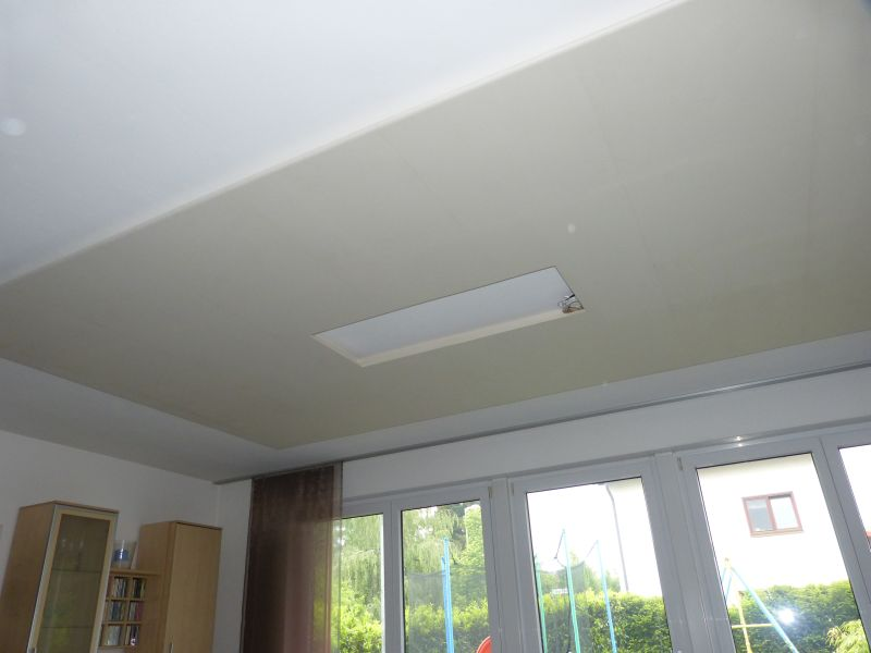 indirekte deckenbeleuchtung mit led strips, Wohnzimmer dekoo